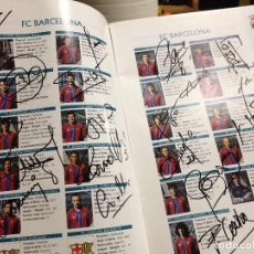 Coleccionismo deportivo: CABOT PROGRAMA 1997 CON FIRMAS FINAL COPA DE CAMPEONES PSG FUTBOL CLUB FC BARCELONA F.C BARÇA CF . Lote 109111751