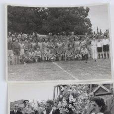 Coleccionismo deportivo: F-3507. CLUB DE FUTBOL BADALONA. 2 INSTANTANEAS DEL AÑO 1951. PARTIDO HOMENAJE A LUIS TEJEDOR.. Lote 109345267