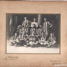 Coleccionismo deportivo: FUTBOL - SABADELL F.C. RETRATO DEL EQUIPO, AÑO 1910-1913, FOTO: VILATOBÁ. 29X35 CM.. Lote 109567211