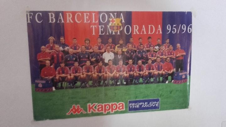 FC BARCELONA POSTER FOTO OFICIAL PLANTILLA 95-96 CON FIRMAS (Coleccionismo Deportivo - Documentos - Fotografías de Deportes)