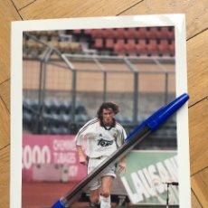 Coleccionismo deportivo: FOTO FOTOGRAFIA DE PRENSA JUGADOR REAL MADRID STEVE MCMANAMAN. Lote 111492751