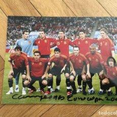 Coleccionismo deportivo: FOTO PRENSA FOTOGRAFIA ORIGINAL FUTBOL CAMPEONES EUROCOPA 2008 SELECCION ESPAÑOLA ESPAÑA. Lote 111624095