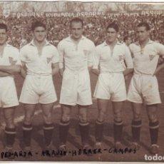 Coleccionismo deportivo: CINCO JUGADORES DEL SEVILA C.F. FINALES DE LOS AÑOS 1940 ORIGINAL. Lote 111951455