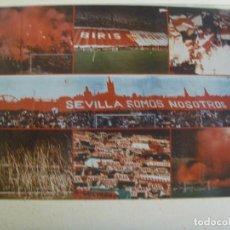 Coleccionismo deportivo: FOTOMONTAJE DE ULTRAS DEL SEVILLA F.C. , BIRIS NORTE : ANTIBETICOS. Lote 112051375