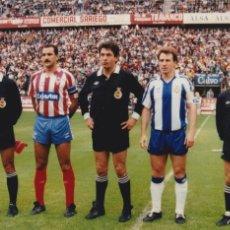 Colecionismo desportivo: RCD ESPAÑOL: FOTO DE LOS CAPITANES ZUBILLAGA Y JOAQUÍN EN EL MOLINÓN. Lote 113010871