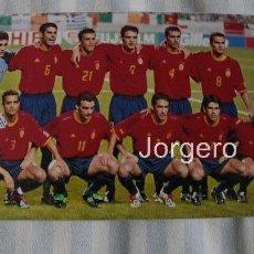 Coleccionismo deportivo: SELECCIÓN ESPAÑOLA DE FÚTBOL. ALINEACIÓN PARTIDO MUNDIAL 2002 EN SUWON CONTRA IRLANDA. FOTO. Lote 178283235