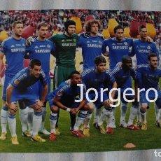 Coleccionismo deportivo: CHELSEA F.C. ALINEACIÓN CAMPEÓN EUROPA LEAGUE 2012-2013 EN AMSTERDAM CONTRA EL BENFICA. FOTO. Lote 176266247