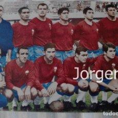 Coleccionismo deportivo: R. ZARAGOZA. ALINEACIÓN CAMPEÓN COPA DE FERIAS 1963-1964 EN EL CAMP NOU CONTRA EL VALENCIA. FOTO. Lote 209212591