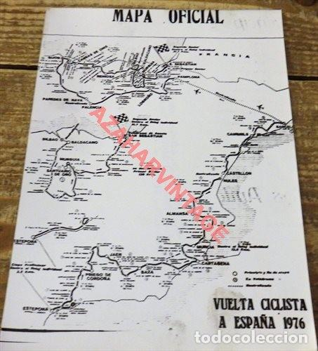 FOTOGRAFIA MAPA OFICIAL VUELTA CICLISTA A ESPAÑA DE 1976, 128X178MM (Coleccionismo Deportivo - Documentos - Fotografías de Deportes)