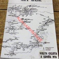 Coleccionismo deportivo: FOTOGRAFIA MAPA OFICIAL VUELTA CICLISTA A ESPAÑA DE 1976, 128X178MM. Lote 117303051