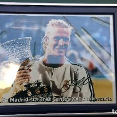 Coleccionismo deportivo: DAVID BECKHAM-AUTOGRAFO IMPRESO REAL MADRID. Lote 117440755