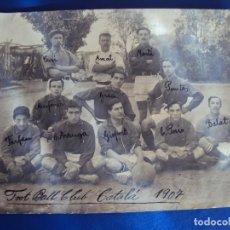 Coleccionismo deportivo: (F-180436)FOTOGRAFIA DEL FOOT-BALL CLUB CATALA-AÑO 1907-E.PERIS,CUSI,AMAT,MARTI,MASFERRER,GRAU,ETC.. Lote 117615219