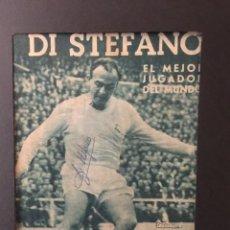 Coleccionismo deportivo: DI STÉFANO.IDOLOS DEL DEPORTE CON AUTÓGRAFO FIRMADO. Lote 117714259