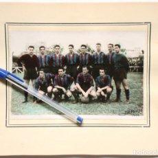 Coleccionismo deportivo: FOTOGRAFÍA DE EQUIPO DE FUTBOL (1952) - B/N COLOREADO - (FOTOS ALFONSO, BILBAO). Lote 119474079