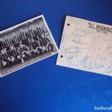Coleccionismo deportivo: (F-180501)FOTOGRAFIA DEL INTER DE MILAN Y AUTOGRAFOS 1960-61. Lote 119607791