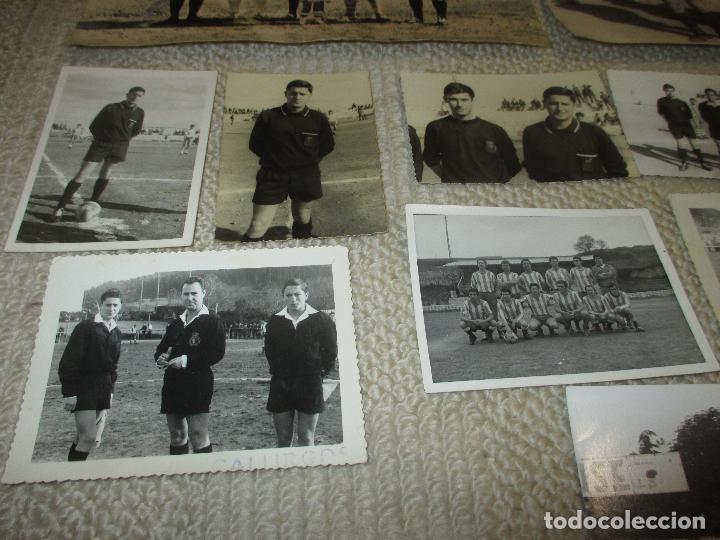 Coleccionismo deportivo: Lote 16 fotos de un árbitro de fútbol de Santander, años 60 - Foto 2 - 121414995