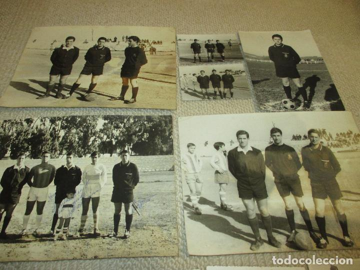 Coleccionismo deportivo: Lote 16 fotos de un árbitro de fútbol de Santander, años 60 - Foto 4 - 121414995