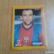 Coleccionismo deportivo: ABELARDO - BARCELONA - FOTOGRAFÍA AGFA 16 X 12 SOPORTE TRASERO - DIARIO SPORT - CAMPEÓN LIGA 98/99. Lote 122120887