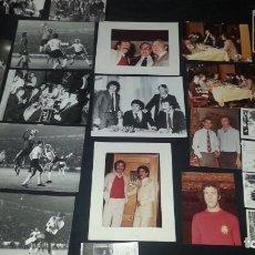 Coleccionismo deportivo: IMPRESIONANTE LOTE DE 24 FOTOGRAFIAS ORIGINALES DE VICENTE DEL BOSQUE. Lote 122246491