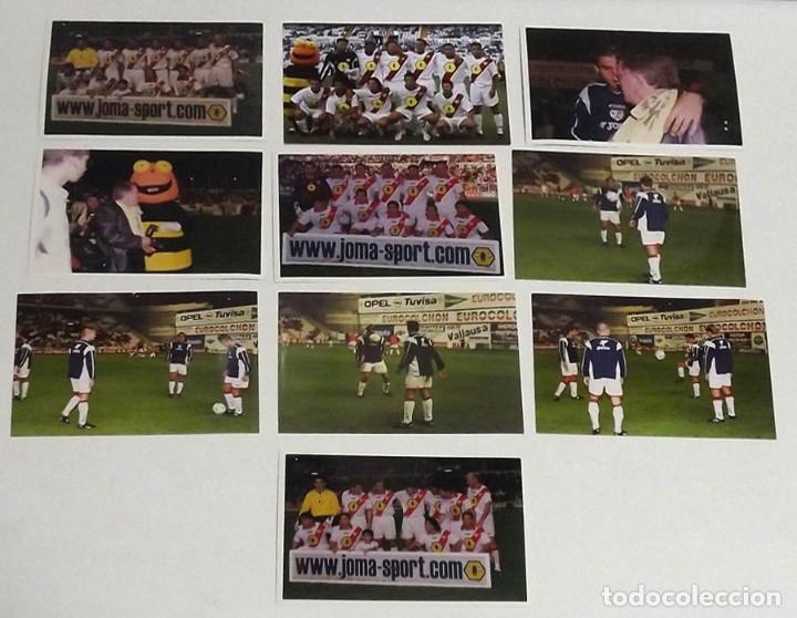 10 FOTOGRAFÍAS ORIGINALES DE PRENSA RAYO VALLECANO (Coleccionismo Deportivo - Documentos - Fotografías de Deportes)