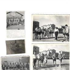 Coleccionismo deportivo - 9 FOTOGRAFIAS FUTBOL ANTIGUAS EQUIPO DE ZARAGOZA - 123425591