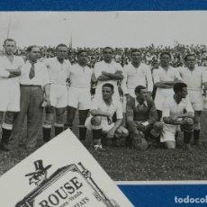 Coleccionismo deportivo: SEVILLA FC - FOTOGRAFIA ORIGINAL DEL EQUIPO CAMPEON DE ESPAÑA 1934 - 35 , CAMPANAL , BRACERO. Lote 229975215