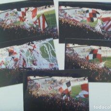 Coleccionismo deportivo: LOTE DE 5 FOTOS DE ULTRAS DEL SEVILLA. BIRIS NORTE ANTIBETICOS. Lote 128487031
