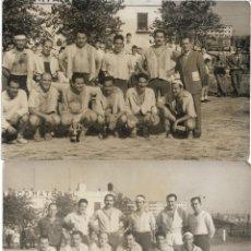 Coleccionismo deportivo: 2 FOTOGRAFIAS C.D. MATERIAL .- FOTO RODRIGUEZ BADALONA 14X9. Lote 128760471