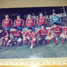 Colecionismo desportivo: ANTIGUA FOTOGRAFÍA DEL REAL ZARAGOZA - SELLO FOTO GARRIGA - TENERIFE. Lote 129392336