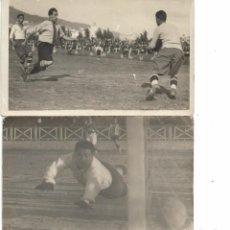 Coleccionismo deportivo - 2 POSTALES FOTOGRAFICAS PARTIDO DE FUTBOL A IDENTIFICAR - 129590259