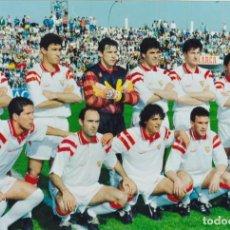 Coleccionismo deportivo: FOTOGRAFIA ALINEACION SEVILLA FC.MARADONA,SIMEONE.... Lote 130995680