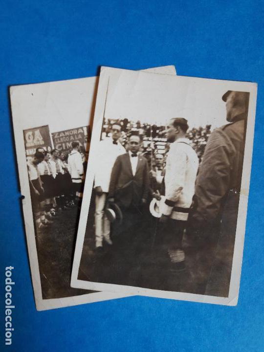 LOTE 2 FOTOGRAFIAS RICARDO ZAMORA RCD ESPANYOL ESPAÑOL AÑOS 20 (Coleccionismo Deportivo - Documentos - Fotografías de Deportes)