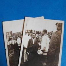 Coleccionismo deportivo: LOTE 2 FOTOGRAFIAS RICARDO ZAMORA RCD ESPANYOL ESPAÑOL AÑOS 20. Lote 134535415