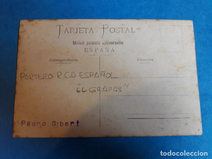 Coleccionismo deportivo: FOTO ORIGINAL PORTERO PERE GIBERT EL GRAPAS RCD ESPANYOL ESPAÑOL AÑOS 10 - Foto 2 - 131528482