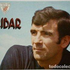 Coleccionismo deportivo: ORIGINAL - LÁMINA FOTOGRAFÍA IRIBAR - PORTERO ATHLETIC CLUB DE BILBAO - EL CHOPO - TARJETÓN. Lote 132513494