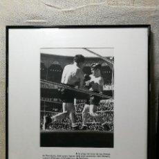 Coleccionismo deportivo: FOTOGRAFIA DE PRENSA ORIGINAL DE BOXEO LLUIS ROMERO-L.DE SANTIAGO AÑOS 40,,PLAZA TORO LAS ARENAS. Lote 133571714