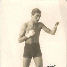 Coleccionismo deportivo: BOXEO - FOTOGRAFÍA DEL BOXEADOR D. CABRERA - FIRMADA Y DEDICADA - MADRID - AÑO 1929. Lote 133771470