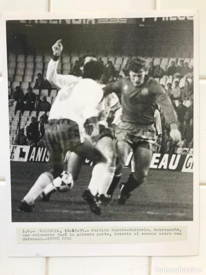 Coleccionismo deportivo: 27 FOTOGRAFIAS FUTBOL SELECCION ESPAÑOLA - AÑOS 1980 - ARCONADA, MICHEL, SATRUSTEGUI, SANTILLANA,... - Foto 20 - 133902658