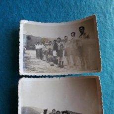 Coleccionismo deportivo: LOTE DE 2 FOTOGRAFÍAS DE FÚTBOL. MARÍN - VIGO TEMPORADA 1950-51. ESTUDIOS FOTO YO. MARÍN. PONTEVEDRA. Lote 134270822