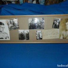 Coleccionismo deportivo: (M) CUADRO CON FOTOGRAFIAS DE BOXEO DE EPOCA - PAULINO UZCUDUN FIRMADA Y FREDDIE MILLER FIRMADA . Lote 134781066