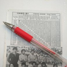 Coleccionismo deportivo: ANTIGUA HOJA FUTBOL JUGADORES CLUB ALINEACION FOTOGRAFIAS LIGA - BINEFAR. Lote 134970770