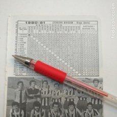 Coleccionismo deportivo: ANTIGUA HOJA FUTBOL JUGADORES CLUB ALINEACION FOTOGRAFIAS LIGA - CATARROJA. Lote 134970798
