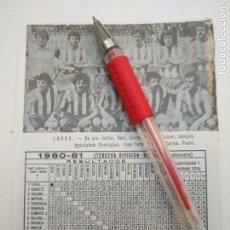 Coleccionismo deportivo: ANTIGUA HOJA FUTBOL JUGADORES CLUB ALINEACION FOTOGRAFIAS LIGA - LORCA. Lote 134970990