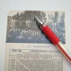 Coleccionismo deportivo: ANTIGUA HOJA FUTBOL JUGADORES CLUB ALINEACION FOTOGRAFIAS LIGA - BEMBIBRE. Lote 134974110