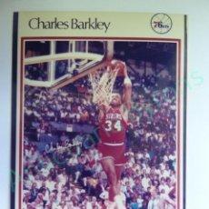Colecionismo desportivo: CROMO EN PAPEL FOTOGRÁFICO. CHARLES BARKLEY. 76ERS. NBA (12,5 X 9 CM). Lote 217013313
