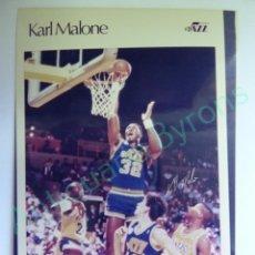 Colecionismo desportivo: CROMO EN PAPEL FOTOGRÁFICO. KARL MALONE. UTAH JAZZ. NBA (12,5 X 9 CM). Lote 217013028