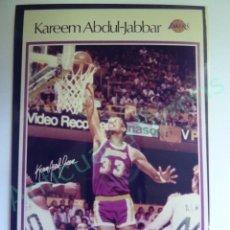 Colecionismo desportivo: CROMO EN PAPEL FOTOGRÁFICO. KAREEM ABDUL JABBAR. LAKERS NBA (12,5 X 9 CM). Lote 217012656