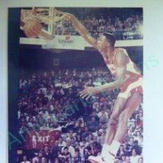 Colecionismo desportivo: CROMO EN PAPEL FOTOGRÁFICO. DOMINIQUE WILKIR. ATLANTA HAWKS. NBA (12,5 X 9 CM). Lote 217013427