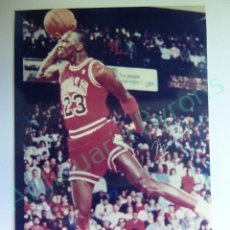 Colecionismo desportivo: CROMO EN PAPEL FOTOGRÁFICO. MICHAEL JORDAN. CHICAGO BULLS. NBA (12,5 X 9 CM). Lote 217012078