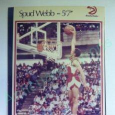 Colecionismo desportivo: CROMO EN PAPEL FOTOGRÁFICO. SPUD WEBB. ATLANTA HAWKS. NBA (12,5 X 9 CM). Lote 217011657